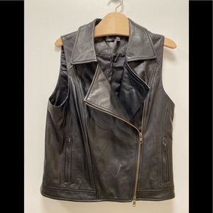 Eileen Fisher leather vest